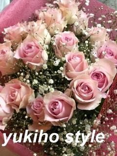 パステルピンク 優しい花贈り