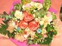誕生日には花束を(ピンクパステル調)