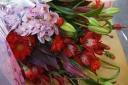 ピンク・レッド系花束