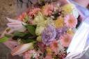 ピンク・パープル系花束