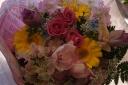 ピンク系カラフル花束