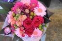ピンクレッド系 お値打ち花束