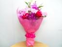 ユリ・バラ・ランのスタンダードな花束