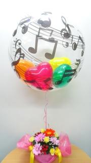 キャンディアレンジ+カラフル音符バルーン