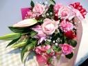 【母の日オススメ ◆ ユリ香る華やか花束】