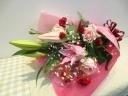 【 ユリ香る母の日色の花束 】