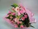 スイートピンクの花束