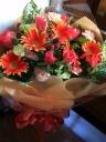 オレンジカラー花束!H-012