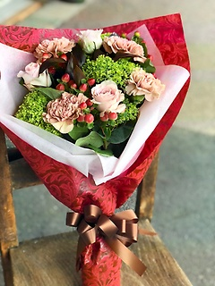 ★くすみピンクの大人花束★