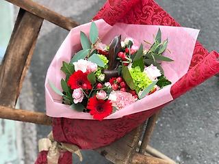 ★大きな赤とピンクの花束★