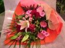 ☆華やかピンクレッド花束☆