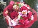 ☆赤バラと赤カーネのブーケ☆