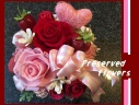 。*゚ 大きなバラのレッドベリープリザ.。*゚+