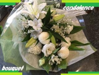 ゜*。:+お悔やみ向おまかせ花束+゜*。:ホワイト