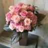 可愛いピンクのバラアレンジ