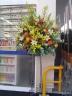 お祝いスタンド花 黄・オレンジ系