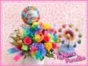 レインボーパラダイスバルーンフラワー:お誕生日