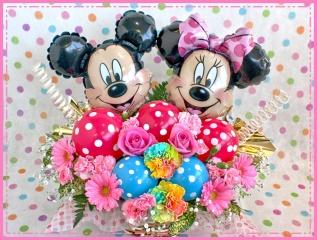 ミッキー&ミニーのラブリーバルーンフラワー/ピンク
