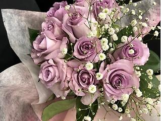 ♪特別な贈り物に・・紫薔薇のブーケ♪