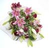 ユリとバラとカスミ草のゴージャス花束