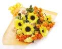 爽やかな黄色の花束