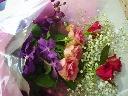 かすみ草とお花