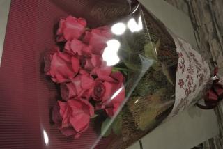 ピンクローズ花束