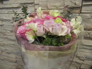 ピンクのお花束
