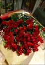 赤薔薇100本の花束