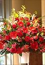 赤メインの1段スタンド花