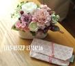 J115-055ZP*造花モーヴ系&焼き菓子*