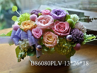 B86080PLV* 紫色の入ったプリザ*大人P