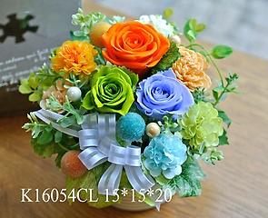 K16054CL*colorfuldrops華やかオレンジM