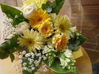 やさしい黄色の花束