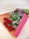 赤バラとカスミのゴージャスブーケ