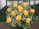 オレンジバラのシンプルアレンジ