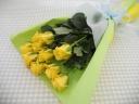 イエローバラの花束