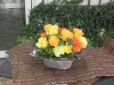 お花たっぷり!バスケットアレンジ