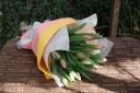 春気分!チューリップの花束