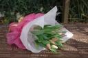 春色!チューリップの花束