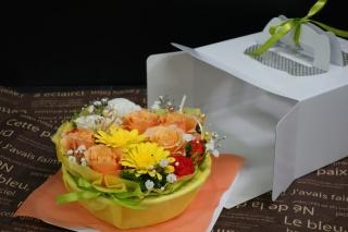 ケーキアレンジ(イエロー&オレンジ)