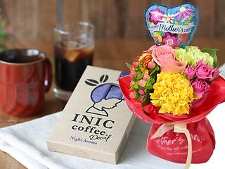 母の日マジカルブーケ&INICデカフェコーヒー12P