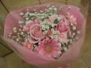 ピンク×ピンク ブーケ花束