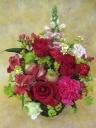 赤いバラのアレンジメント