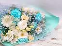 ブルーのエレガントな花束
