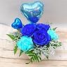 バルーン付き♪珍しいブルーのアレンジメント