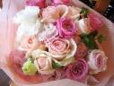 エレガントピンクの素敵な花束