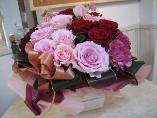 豪華バラ ピンク&レッド