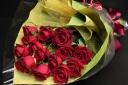 赤バラの花束(ミドルサイズ)