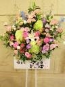 開店祝い・お祝いスタンド花(淡い色合いでおまかせ)